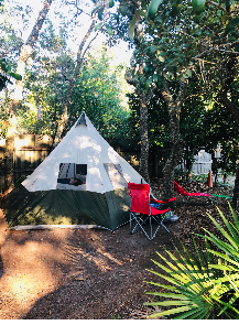 Tent Camping at The Hideaway in Navarre, FL